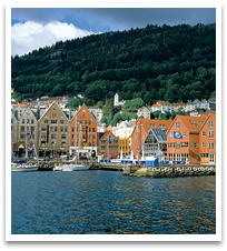Bergen, view from the water.